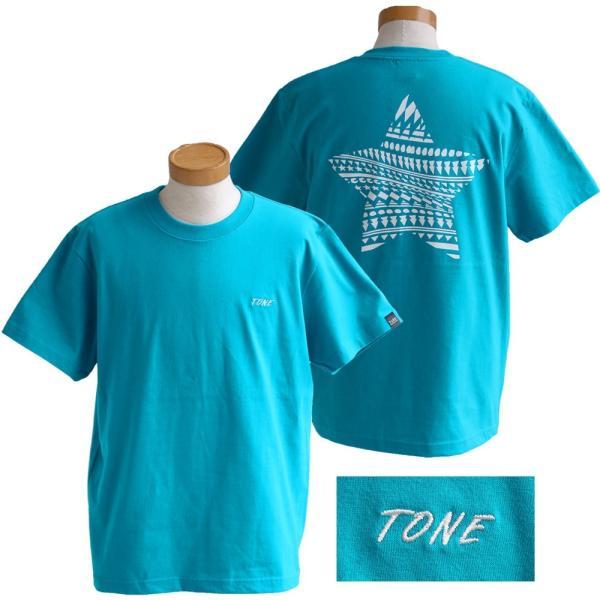 Tシャツ 半袖  メンズ クルーネック 配色 ノルディック 星 スター バック プリント レディース TOneontoNE おしゃれ|paty|18