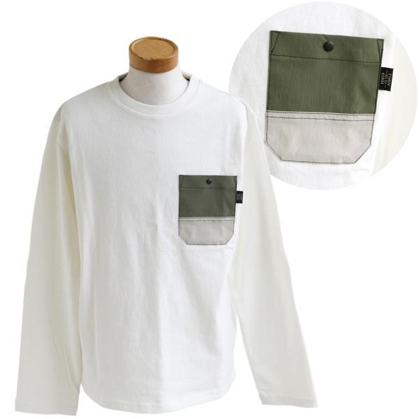 Tシャツ TEE クルーネック ムービング ポケット ストレッチ 無地 長袖 ナイロン コットン カジュアル メンズ レディース POWER TO THE PEOPLE|paty|19