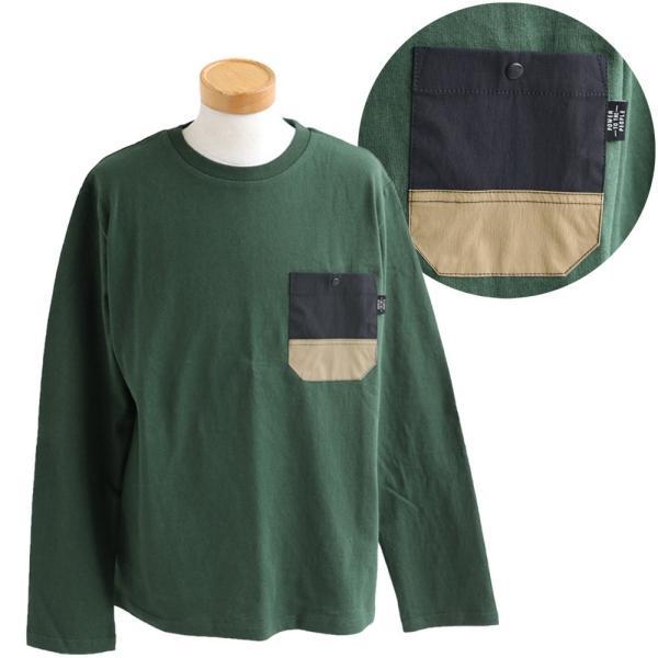 Tシャツ TEE クルーネック ムービング ポケット ストレッチ 無地 長袖 ナイロン コットン カジュアル メンズ レディース POWER TO THE PEOPLE|paty|20