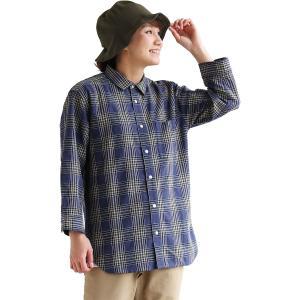 シャツ 七分袖 7分袖 綿麻 先染め チェック柄 スラブ 通気性 速乾性 強度 メンズ レディース  grn|PATY