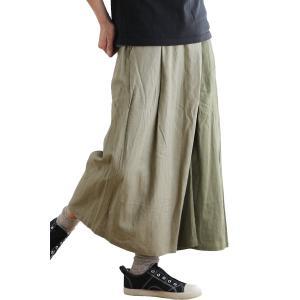 パンツ ワイドパンツ ラップ風 ウエストゴム 麻 レーヨン 涼しい 通気性 キーループ クレイジー レディース  gym master PATY