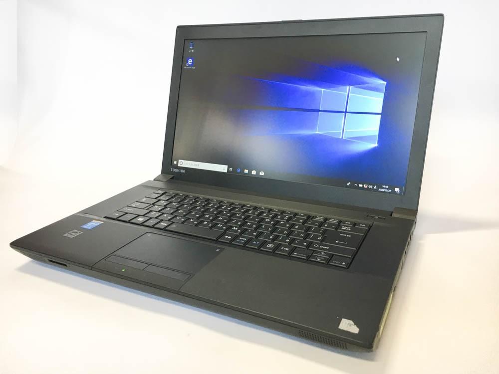 TOSHIBA dynabook Satellite B554/K Windows10 Pro 64bit Intel Core i5-4300M メモリ4GB HDD320GB DVDROM 15.6インチ 東芝 無線LANアダプタ付属 Bランク