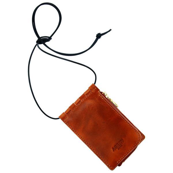 【ネコポス】ネックポーチ 小銭入れ 本革 レザー IDケース 財布 二つ折り パスケース 首掛け AGILITY affa アジリティアッファ フィユテ[M便 3/3]|pdd|21