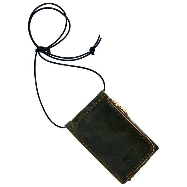 【ネコポス】ネックポーチ 小銭入れ 本革 レザー IDケース 財布 二つ折り パスケース 首掛け AGILITY affa アジリティアッファ フィユテ[M便 3/3]|pdd|22
