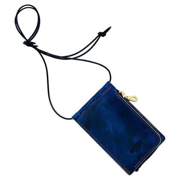 【ネコポス】ネックポーチ 小銭入れ 本革 レザー IDケース 財布 二つ折り パスケース 首掛け AGILITY affa アジリティアッファ フィユテ[M便 3/3]|pdd|23
