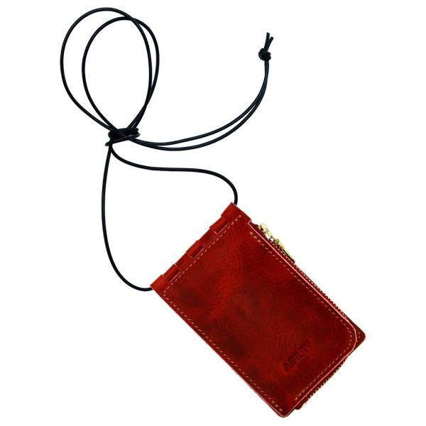 【ネコポス】ネックポーチ 小銭入れ 本革 レザー IDケース 財布 二つ折り パスケース 首掛け AGILITY affa アジリティアッファ フィユテ[M便 3/3]|pdd|26
