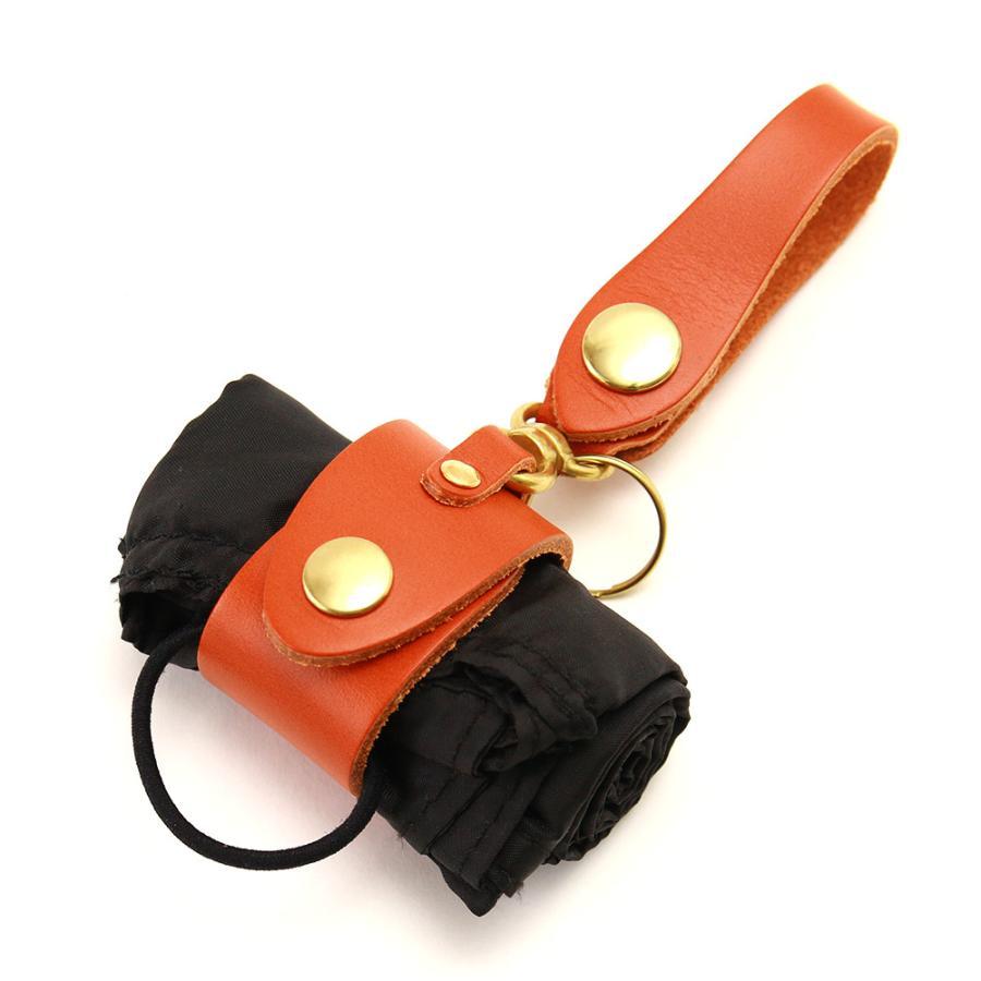 【ネコポス】キーホルダー エコバッグ 携帯 忘れない グローブホルダー ベルトループ 本革 AGILITY affa アジリティアッファ マイバッグホルダー[M便 3/3] pdd 24