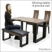ダイニングテーブルセット 4点 4人 北欧 モダン 木製 ベンチ おしゃれ