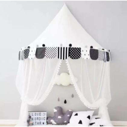 天蓋 キャノピー 子供部屋 キャノピー テント 折りたたみ式 テント キャノピーベッドカーテン|pekoma|18