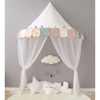 天蓋 キャノピー 子供部屋 キャノピー テント 折りたたみ式 テント キャノピーベッドカーテン|pekoma|15