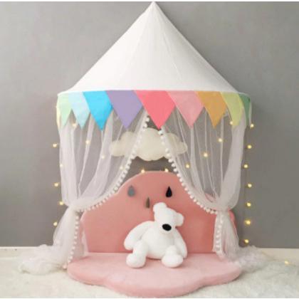 天蓋 キャノピー 子供部屋 キャノピー テント 折りたたみ式 テント キャノピーベッドカーテン|pekoma|13