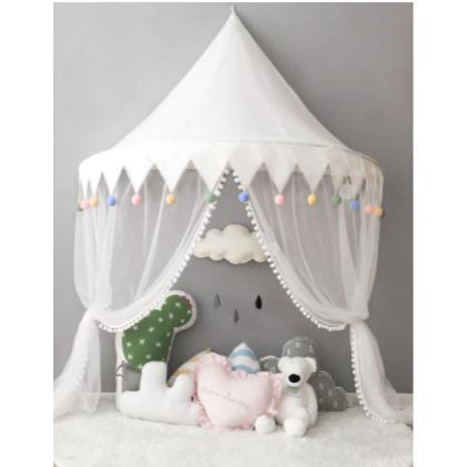 天蓋 キャノピー 子供部屋 キャノピー テント 折りたたみ式 テント キャノピーベッドカーテン|pekoma|17