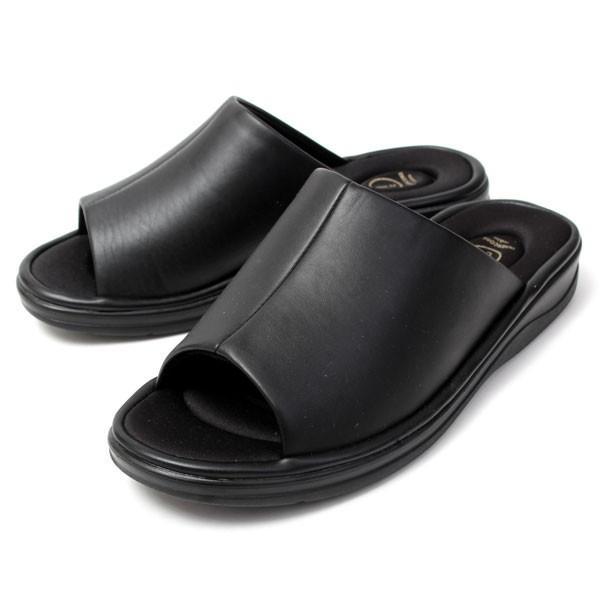 メンズ サンダル オフィスサンダル コンフォート ヒール4cm オフィス 外履き 室内履き ブラック INNERCORE インナーコア N2-29 N3-29|pennepenne|10