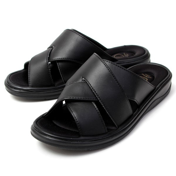 メンズ サンダル オフィスサンダル コンフォート ヒール4cm オフィス 外履き 室内履き ブラック INNERCORE インナーコア N2-29 N3-29|pennepenne|11