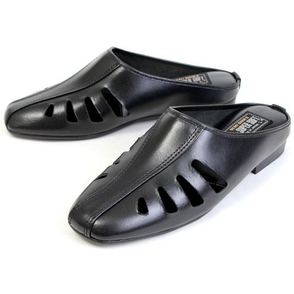 semi shoes セミシューズ メンズ 日本製 牛革 ビジネスサンダル ドクターサンダル ドクタースリッパ 福岡化学 122 158 pennepenne 09
