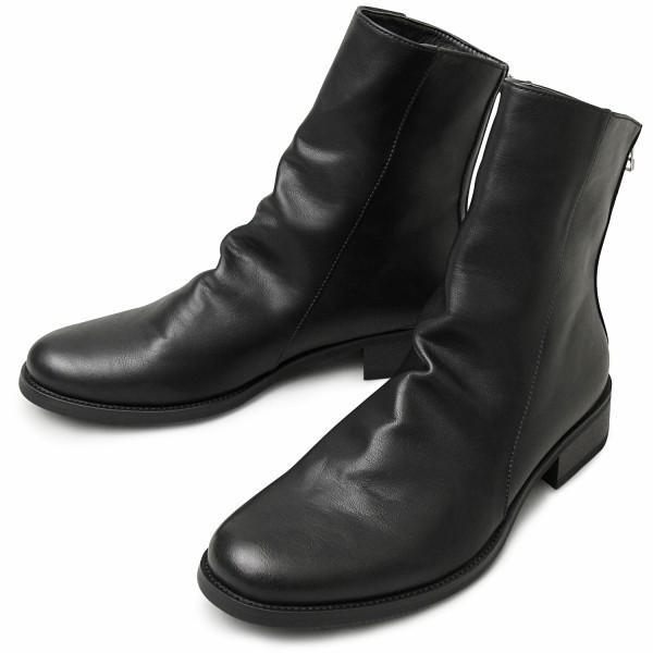 ドレープブーツ メンズブーツ ブラック ダークブラウン|pennepenne|19