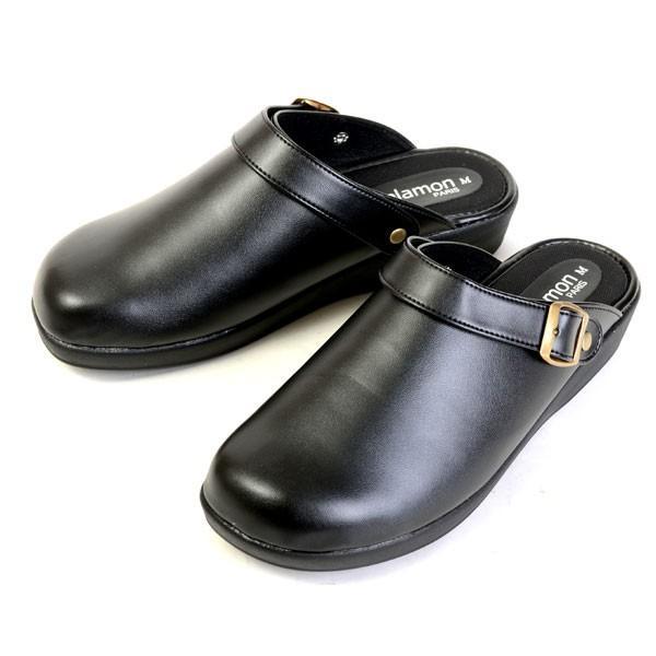 メンズ サンダル クロッグサンダル 2WAY 日本製 カジュアル オフィス 室内履き ヒール3.5cm ブラック チョコ 24040|pennepenne|06