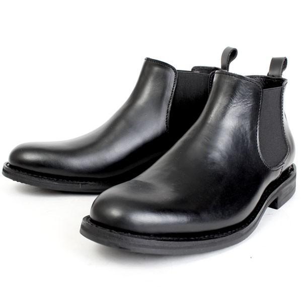 メンズ 本革 オイルレザー サイドゴアブーツ ショートブーツ グッドイヤーウェルト ブラック SOUstant ソウスタント 604|pennepenne|10