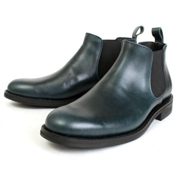 メンズ 本革 オイルレザー サイドゴアブーツ ショートブーツ グッドイヤーウェルト ブラック SOUstant ソウスタント 604|pennepenne|12