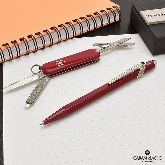 カランダッシュ ボールペン 限定品 スイスギフト クラシック 849+ビクトリノックス レッドナイフ