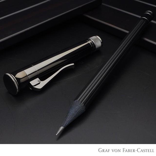 ファーバーカステル 鉛筆 パーフェクトペンシル PVDコーティング ブラック