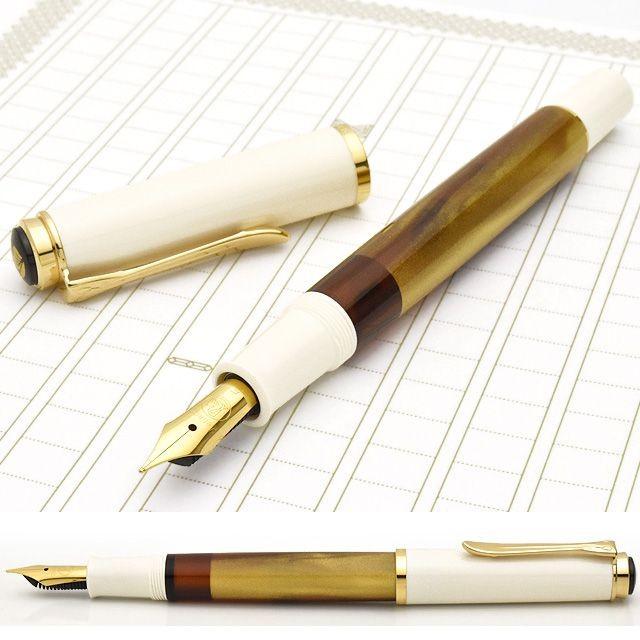 ペリカン 万年筆 特別生産品 クラシック M200 ゴールドマーブル