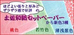 土佐和紙セットペーパー 若竹色