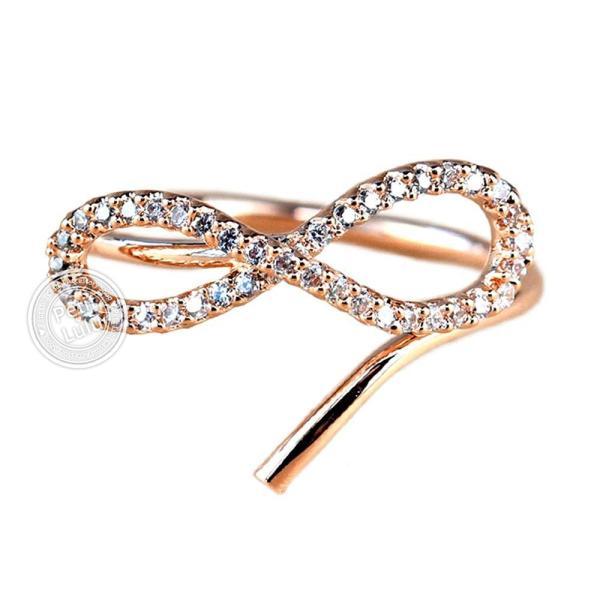 指輪 レディース リング ダイヤモンドCZ メビウスの輪 永遠の絆 18金RGP 2色展開|petit-lulu|10