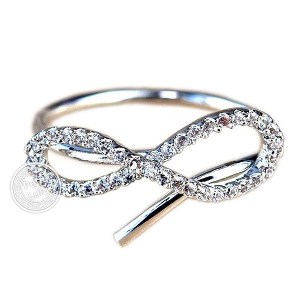 指輪 レディース リング ダイヤモンドCZ メビウスの輪 永遠の絆 18金RGP 2色展開|petit-lulu|11