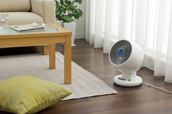 気流をつくって冷暖房機器の効率をアップして賢く省エネ♪