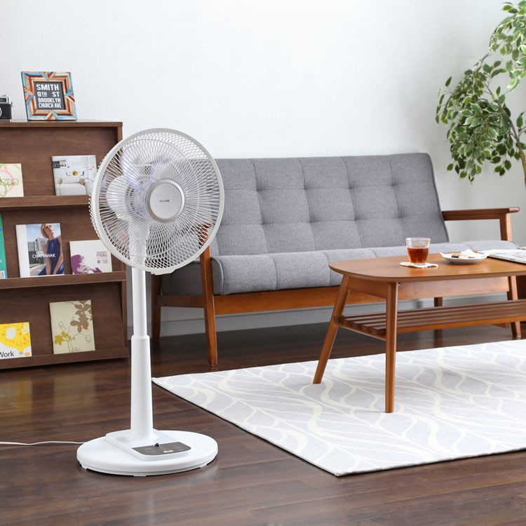 扇風機リビング扇風機ファンリビングファン首振りリモコン付リモコン付きタイマーリビングACACモーターマイコン季節家電白アイリスオーヤマ