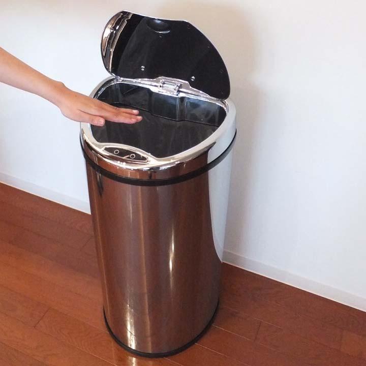 ゴミ箱ごみ箱ペールおしゃれステンレスゴミ箱ペールペールゴミ箱センサー付全自動ペール68L