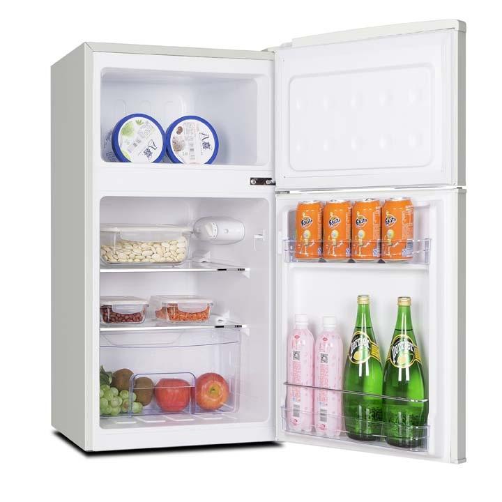冷蔵庫一人暮らし小型コンパクト2ドアGrand-Line2ドアレトロ冷凍/冷蔵庫85Lエスキュービズム