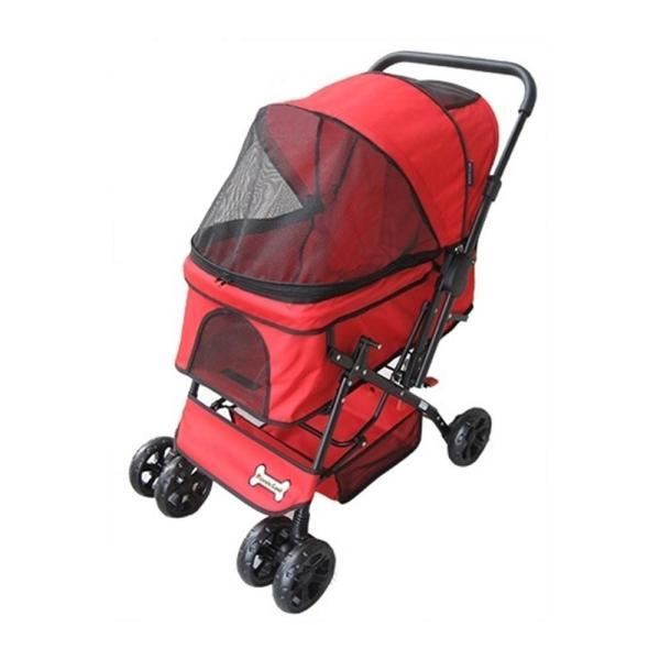 ピッコロカーネ プリモ Primo 多頭 中型犬用 (〜25kg) ペットカート 対面式  折りたたみタイプ 送料無料  3つの特典付き petspa 21