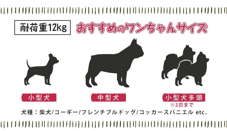 耐荷重12kg おすすめわんちゃんサイズ