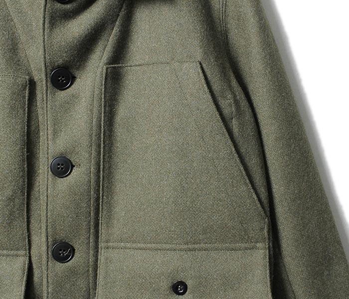 [送料無料]フランクリーダー/FRANK LEDER ドイツ製 ミリタリーグリーンローデンウール ジャケット MILITARY GREEN LODEN WOOL (0022062-JACKET)