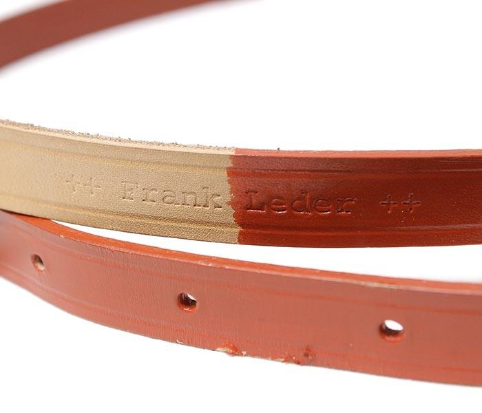 [送料無料]フランクリーダー/FRANK LEDER ドイツ製 レザーベルト レッドペイント COW LEATHER BELT (0020077-BELT)
