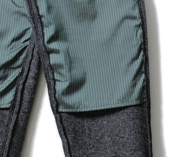 [送料無料]フランクリーダー/FRANK LEDER ドイツ製 ヘリンボーンウール イージーパンツ NAVY NEP HERRINGBONE WOOL (0023004-PANTS)