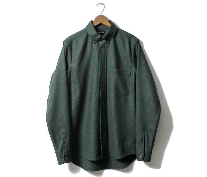 [送料無料]フランクリーダー/FRANK LEDER ドイツ製 グリーンローデンウール ボタンダウンシャツ GREEN LODEN WOOL (0026015)