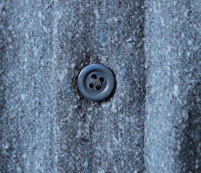 [送料無料]フランクリーダー/FRANK LEDER ドイツ製 ライトブルー ウールシルク レギュラーカラーシャツ LIGHTBLUE WOOL/SILK (0026019-SHIRTS)