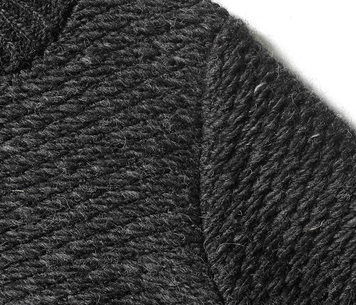 [送料無料]フランクリーダー/FRANK LEDER ドイツ製 ハンドニットウール 裏使い ジップカーディガン ニット セーター ORGANIC SHEEP WOOL HAND KNIT (0028086-ZIP)