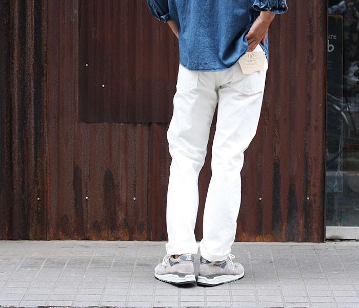 [送料無料]オアスロウ(オアスロー)/orSlow 日本製 ''ホワイトデニム''アイビーフィットジーンズ・デニム(01-0107-69)
