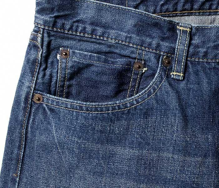orSlow オアスロウ 日本製 2 year wash デニム アイビーフィット 5ポケット ジーンズ ミミ付き セルビッジ (01-0107-84)