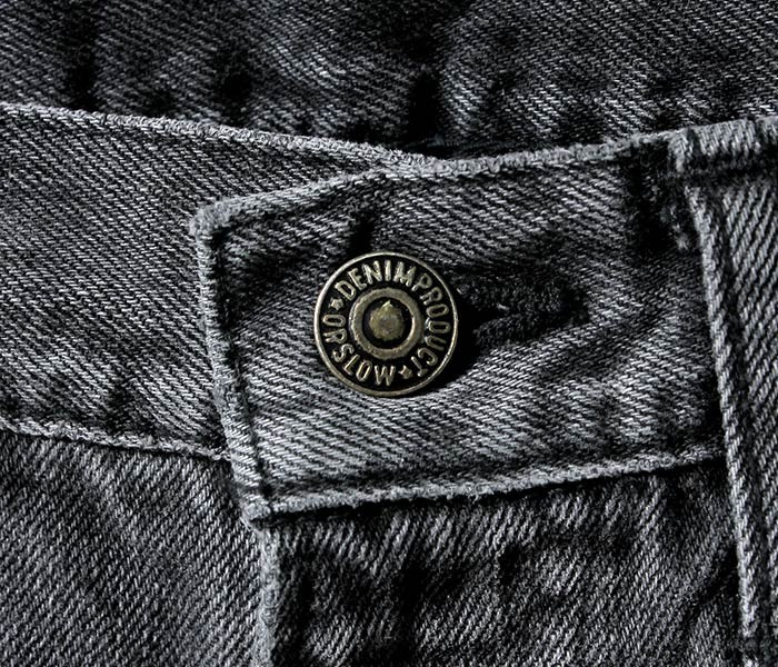 [送料無料]オアスロウ(オアスロー)/orSlow 日本製 ストーンウォッシュ ブラック/ブラックデニム オリジナル スタンダード5ポケットジーンズ デニム (01-1050-D61S)