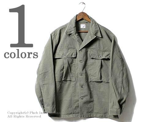 [送料無料]オアスロウ(オアスロー)/orSlow 日本製 ''グリーンユーズド'' ヘリンボーン U.S.ARMY ミリタリージャケット (01-6044-HBT216)