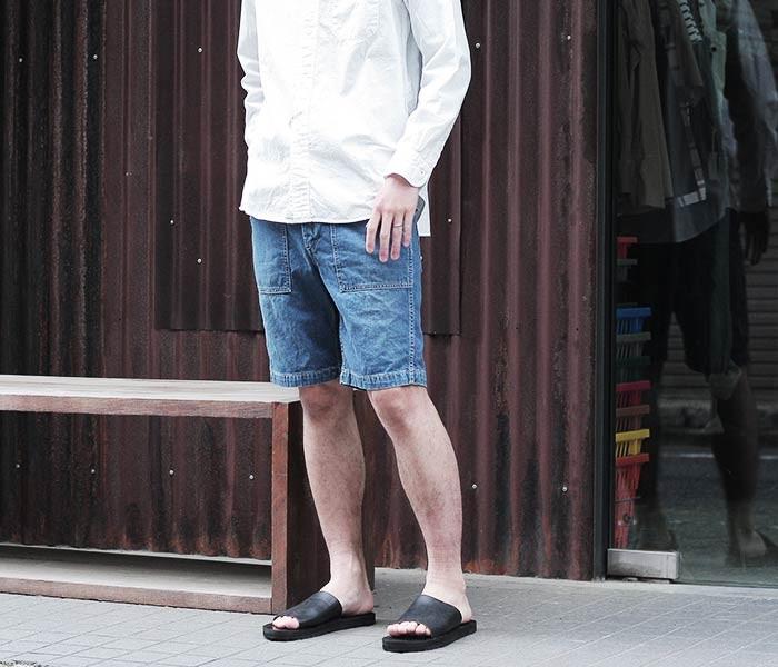 [送料無料]オアスロウ(オアスロー)/orSlow 日本製 2 year wash デニム ファティーグショーツ ショートパンツ (01-7002-84)