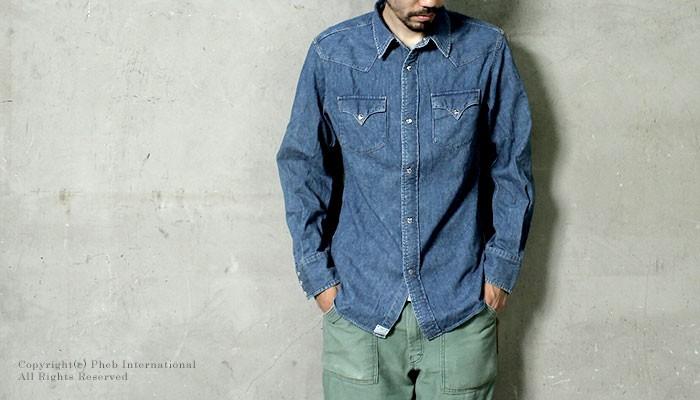[送料無料]オアスロウ(オアスロー)/orSlow 日本製 ''タイプ2''デニムウェスタンシャツ(01-8002-95)
