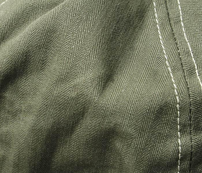 [送料無料]オアスロウ(オアスロー)/orSlow 日本製 グリーンヘリンボーン U.S.NAVY ミリタリーハット (03--001-16A)