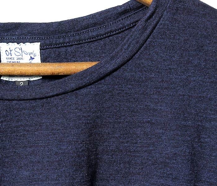 オアスロウ(オアスロー)/orSlow 日本製 ''インディゴ'' Tシャツ ポケT (03-0014-01)