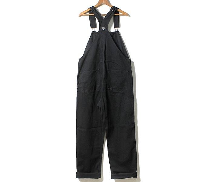 [送料無料]オアスロウ(オアスロー)/orSlow 日本製 ブラックデニム オーバーオール (03-9000-D61)